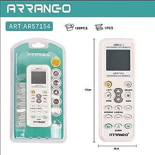 All Shop – Mando a distancia universal para aire acondicionado/climatizador compatible con la mayoría de las marcas, con pantalla retroiluminada y función linterna