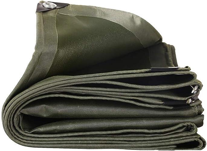 TAO Toile résistante épaissie de Toile de bache imperméable extérieure imperméable à la Pluie de Tissu de bache de Prougeection de bache de Prougeection de Vert de bache Verte 600g   m2 (Taille   3x4m)