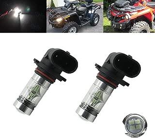 2x 80W Xenon White CREE Led Headlights Bulbs For Can-Am ATV Commander Maverick Outlander Renegade 500 650 800 800R 1000