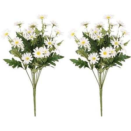 Artificial Flower Wedding Bouquet Silk Fake Daisy 5 Home Decor Branches S0O1