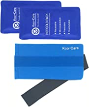 Koo-Care 2 Flexible Gel Ice Pack and 1 Wrap with Elastic Strap for Hot/Cold Therapy, 11-Inch-by-5.9-Inch (Standard)