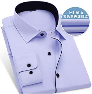 MogogoMen Regular Fit Shirts Solid Business Long-Sleeve Button Work Shirt