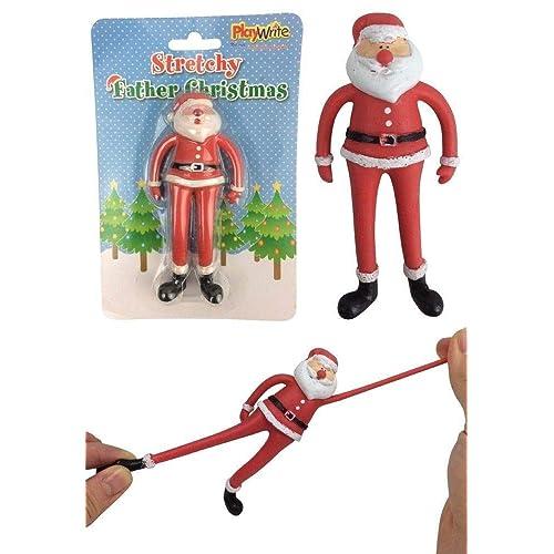 1f6f450a MBB Stretchy Father Christmas - Fun Present Stocking Filler - Secret Santa  Gift