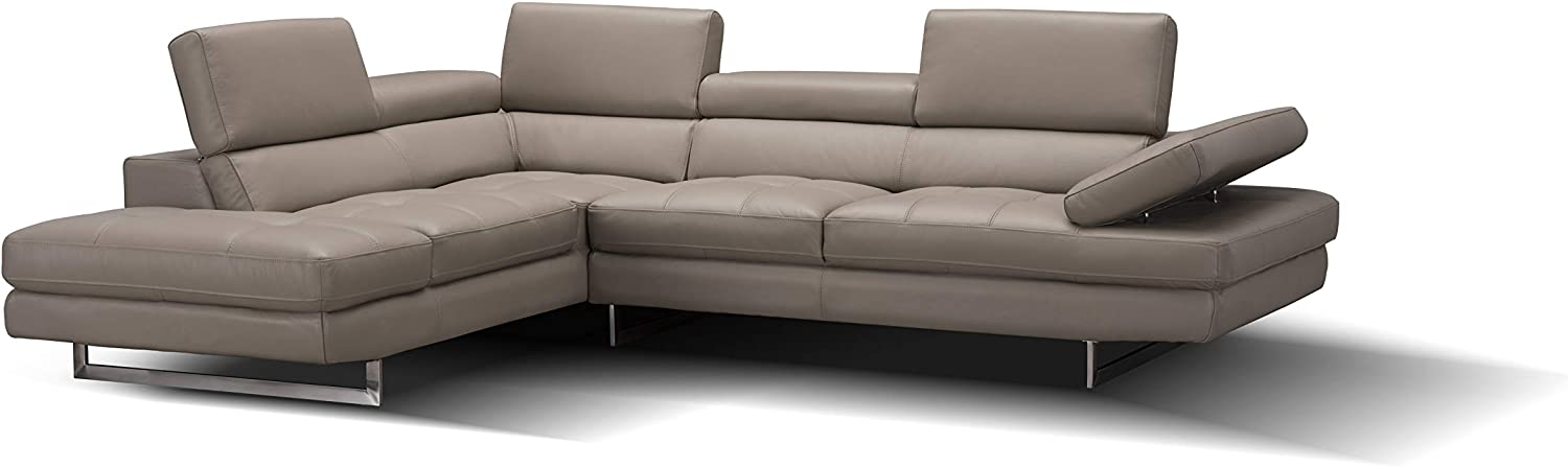 J and M Furniture A761 Italian Leather Sectional Peanut