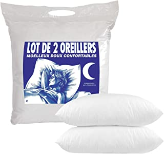 Home Collection, Oreillers Câlin Souples, Lot de 4, 60x60 cm, Polyester, ORPP400600L4