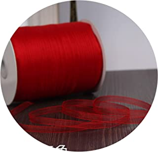 Champagne (10 Meters/lot) 1/4''(6mm) Organza Ribbons Wholesale Wedding Christmas Birthday Party Decoration Gift Wrapping Ribbons,Red