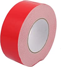 Aexit 10M Length Tape 50mm Dual Side Adhesive White PE Foam Tape for Masking Tape LED Board