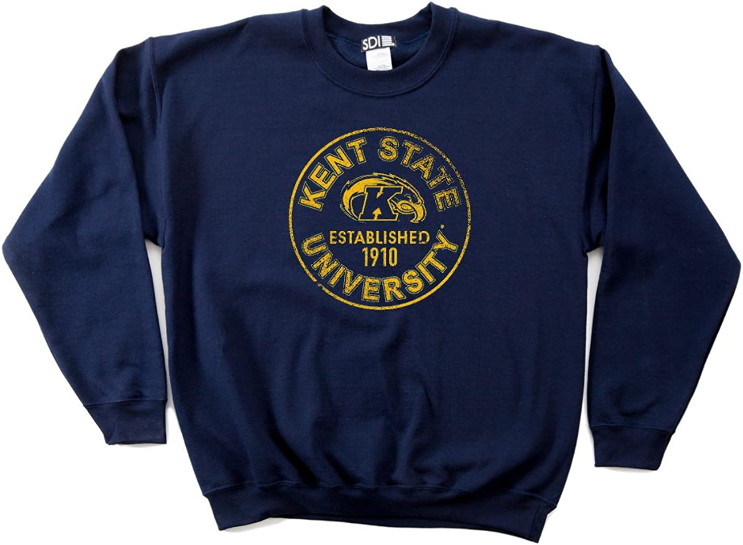 NCAA Kent State golden Flashes 50 50 Blended 8Ounce Vintage Circle Crewneck Sweatshirt
