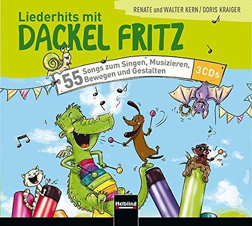Liederhits mit Dackel Fritz - 3 Playback-CDs: 55 Songs zum Singen, Musizieren, Bewegen und Gestalten