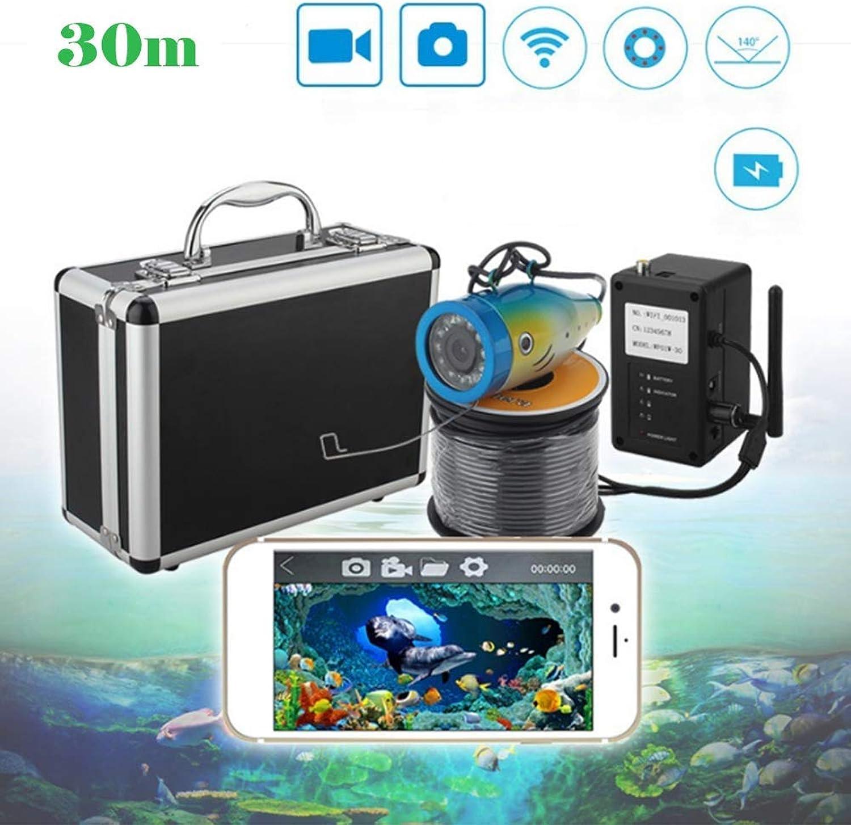 Fish Finder Unterwasser-Fischkamera 1000TVL HD wasserdichte Video-Unterwasser-Fischkamera Fish Detector DVR 165 Grad