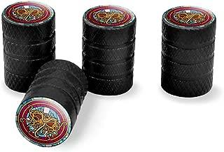 Graphics and More Flying Spaghetti Monster Stained Glass Tire Rim Wheel Aluminum Valve Stem Caps