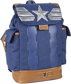 Mochila Casual Travel de Avengers Capitan America de Color Azul - Mochila 40 cm | Licencia Oficial Marvel Studios, Multicolor