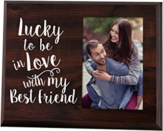 Elegant Signs Lucky to Be in Love Romantic Gift Picture Frame for Boyfriend or Girlfriend