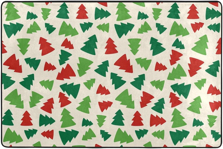 FAJRO Christmas Time color Trees Polyester shoes Scraper Carpet Area Rug Entry Way Doormat Multipattern Door Mat Floor Mats Home Dec Anti-Slip Indoor Outdoor