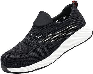 Mesh Breathable Safety Shoes Men Women Steel Toe Caps Work Shoes Lightweight Summer Outdoor Sport Trainers BaojunHT®