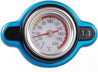 Sporacingrts Big Head Temperature Gauge with Utility Safe 1.1 Bar Thermo Radiator Cap Tank Cover