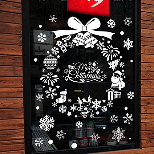 Reyqing Puerta De Cristal Decorado De Navidad Navidad Año Nuevo Pegatinas Pegatinas...