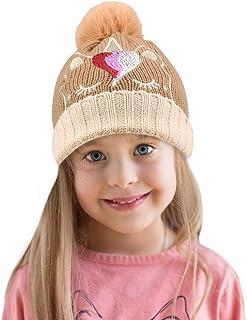 puseky Cappellino da 2 Pezzi Cappelli Coordinati Famiglia Padre-Figlio Madre Bambino Maglia Uncinetto Cappello Invernale Caldo Cappello a Cuffia
