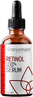 Retinol 100% Serum for Face | w/Vitamin C & Hyaluronic Acid | Professional Grade | May Help Smooth Appearance of Wrinkles and Fine Lines | Works to Hydrate for More Youthful-Looking Skin 1 fl oz