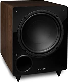 Fluance DB10W 10-inch Low Frequency Powered Subwoofer for Home Theater (Natural Walnut)