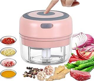VOUM Mini Food Chopper Electric - 100ML Kitchen Food Processor and Blender, USB Charging Portable Vegetable Fruit Meat Gar...