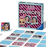Ravensburger LOL Surprise Mini Memory Matching Picture Snap Pairs Game for Kids Age 3 Years Up