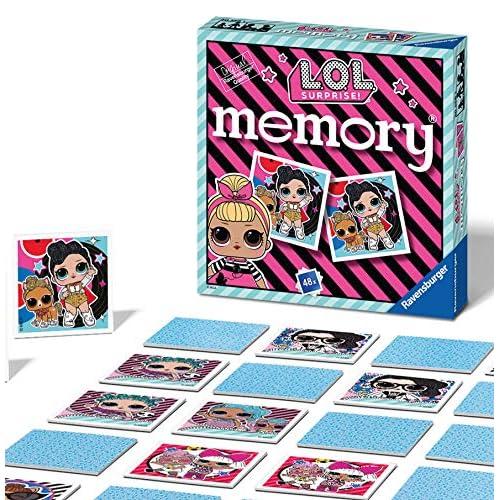 Ravensburger Italy L.O.L. Surprise, LOL Memory in Formato Pocket, 15x15 cm, Gioco, 24 Coppie in Cartone, 48 Carte, per Bambini a Partire da 4 Anni, da 2 a 8 Giocatori, Multicolore, 0, 20556 1