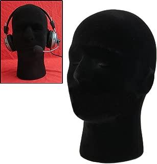 LIAMTU Male Wigs Display Mannequin Head Stand Model HTC Vive VR Headsets Mount Styrofoam Foam Black