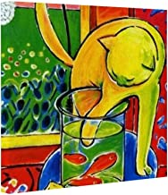 VEHFA Henri Matisse, Le Chat Aux Poissons Rouges 1914, (The Cat with Red Fishes) Prints On Canvas Modern Wall Art Pictures...