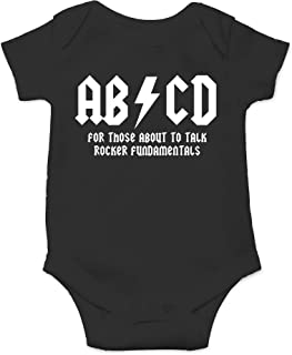 CBTwear ABCD - AC Music Toddler DC Rock and Roll Funny Romper Cute Novelty Infant One-Piece Baby Bodysuit