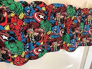 Super Heros Advenger Hulk Thor Captin America Curtain Valance