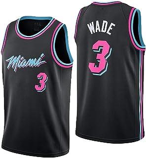 LHWLX 2019 NBA Jersey Miami Heat No. 3 Wade Traje de Ropa de Baloncesto MasculinoTops