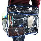 ∞ Infinity-style 静電気 防止 エンジニアバッグ 大容量 帯電カット 透明 ショルダーバッグ A4サイズ