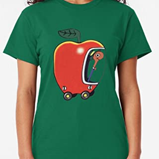 ZENFAON - Lowly the Worm and His Apple Car Classic - Teacher Assistant T-Shirts - Fun Teacher T Shirts