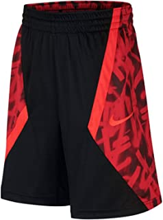 Dri-Fit Boys Black & Red Grafitti Print Athletic Basketball Shorts