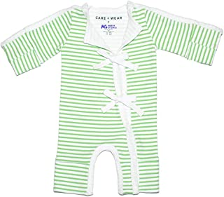 Care+Wear x March of Dimes NICU Preemie Outfit Antimicrobial NICU Approved with Sleeve Openings for Ease-of-Use