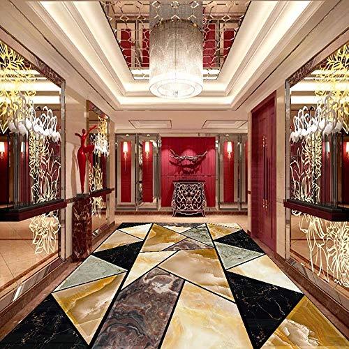Papel pintado geométrico moderno de mármol para el suelo, sala de estar, comedor, suelo, azulejo, adhesivo de PVC, autoadhesivo, pintura de suelo 3D, murales-250x175cm