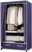 Portable Wardrobe Simple Wardrobe Clothing Storage Cabinet Steel Frame Reinforced Wardrobe Bedroom Save Space Combination ...