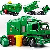 SHANDP Children Garbage Truck Kids Toys Inertia Sanitation Truck with Garbage Cans Vehicle