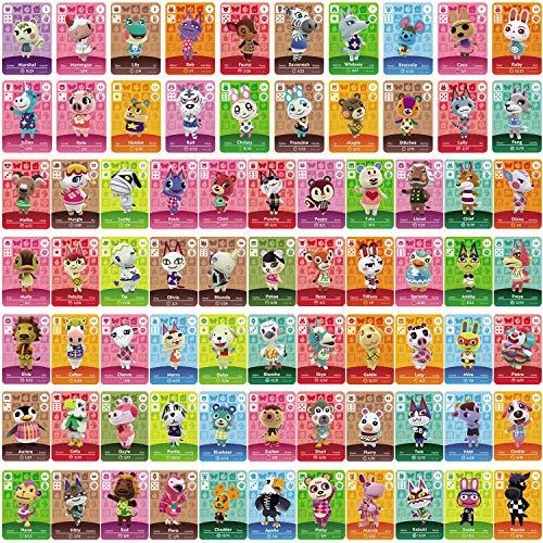 75 Stück ACNH NFC Tag Mini Game Rare Character Villager Cards für Animal Crossing New Horizons Amiibo Cards, Game Cards Series 1-4 für Switch/Switch Lite/Wii U/New 3DS mit Aufbewahrungskoffer