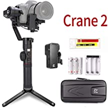 Zhiyun Crane 2 3-Axis Handheld Gimbal Stabilizer with Servo Follow Focus 3.2Kg Payload OLED Display for DSLR Camera Like Canon 5D 6D Mark Sony A7 Panasonic GH4