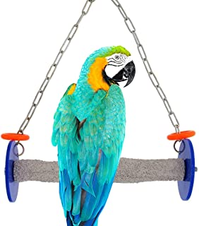 Sweet Feet and Beak Roll Swing and Perch for Birds, Keeps Nails and Beak in Top Condition and Stimulate Leg Muscles - Made in the USA -Safe and Non-Toxic, For Cages-Various Colors and Sizes Available