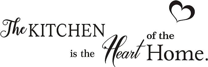 Calcomanías de pared de vinilo de The Kitchen is The Heart of The Home, con cita preciosa y extraíble, para cocina, sala d...