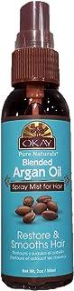 OKAY | Argan Oil Finishing Spray Mist | For All Hair Types & Textures | Restores Damaged Hair & Provides Shining Luster | ...