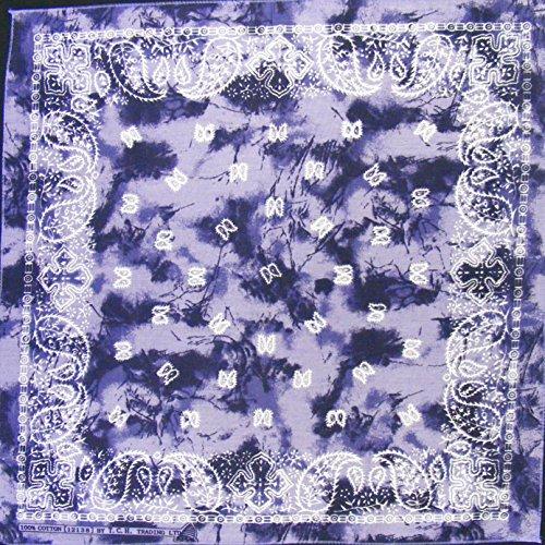 Tuch Serviette Motif Cachemire Violet gefleckt Bandana Biker Sport Foulard Chapeau env. 51 x 51 cm Imprimé D'un Seul Côté