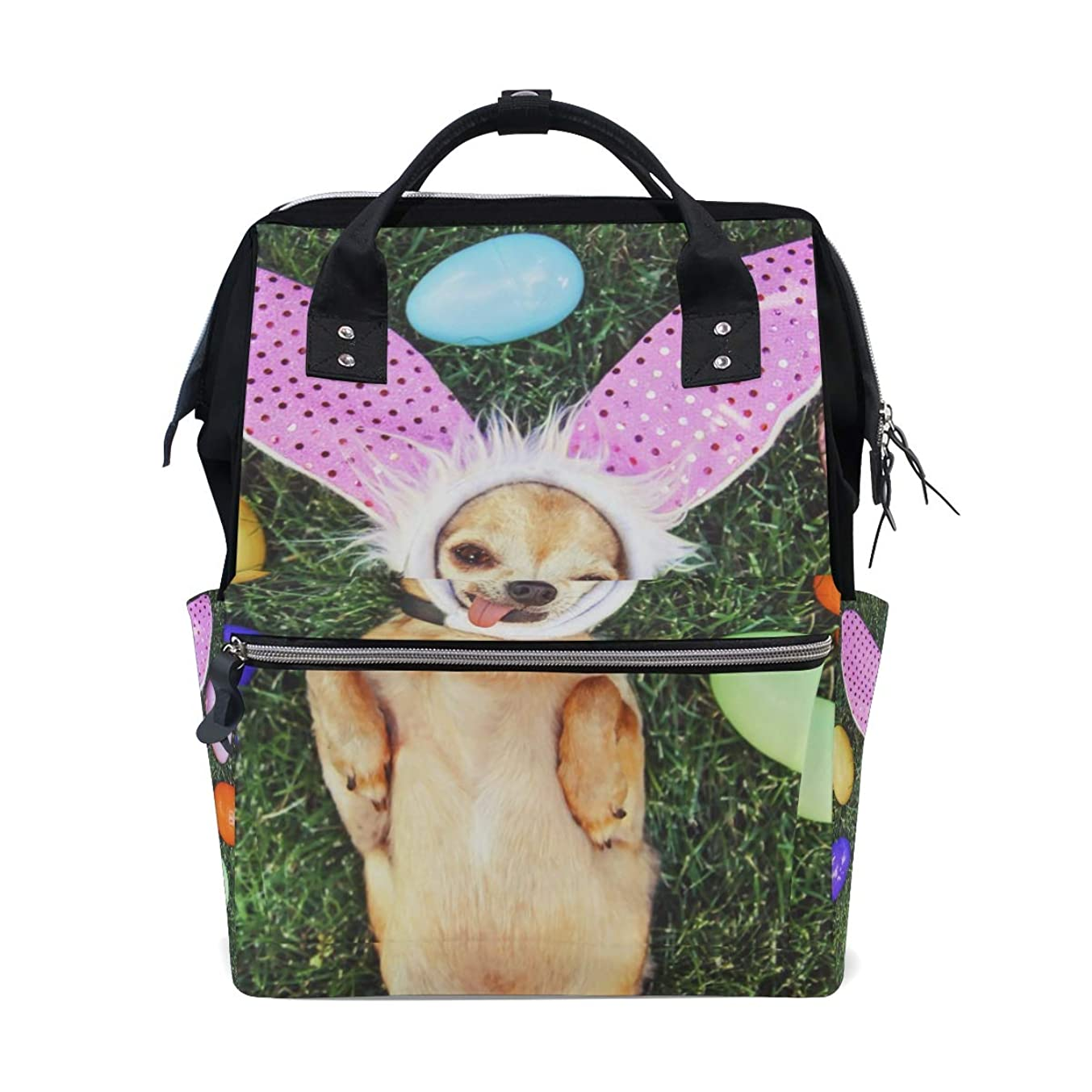 Funny Dog Easter Eggs School Backpack Large Capacity Mummy Bags Laptop Handbag Casual Travel Rucksack Satchel For Women Men Adult Teen Children