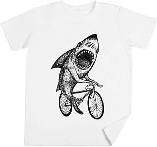 Tiburón Paseo Bicicleta Niños Unisexo Chicos Chicas Blanco ...