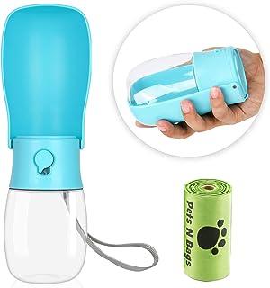 Dog Water Bottle - Foldable Dog Water Dispenser for Walking with Dog Waste Bag, Portable Pet Water Bottle for Travel, BPA ...