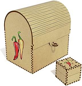 Azeeda  Chili Peppers  Treasure Chest Jewellery Box  TC00041558