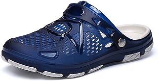 Mengxx Men's Summer Sandals Clogs Mules Garden Quick-Dry Walking Beach Pool Non-Slip Water Shoes Indoor Outdoor Slipper